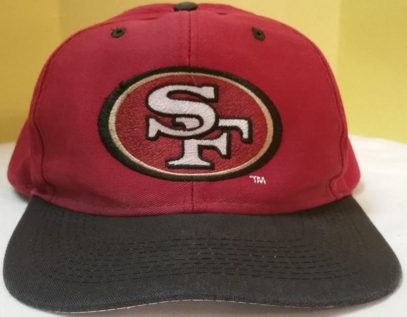 ea7035fb9 Vintage 90s San Francisco 49ers snapback hat by Logo 7 crimson red black  gold